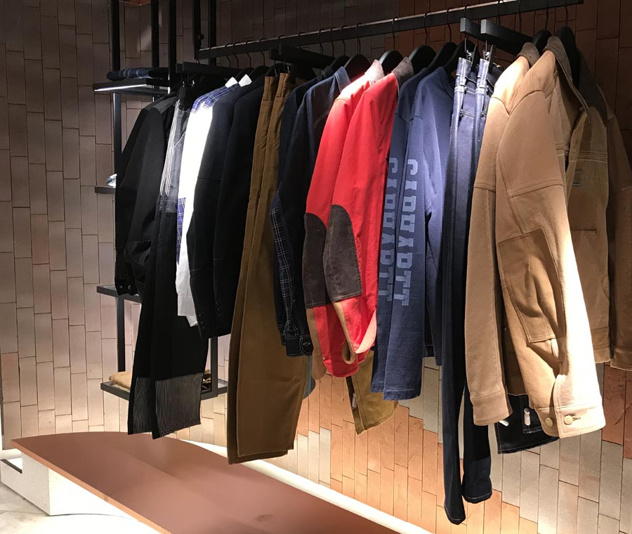A variety of Ketley brick slips make up the display for luxury brands at Harvey Nicholls