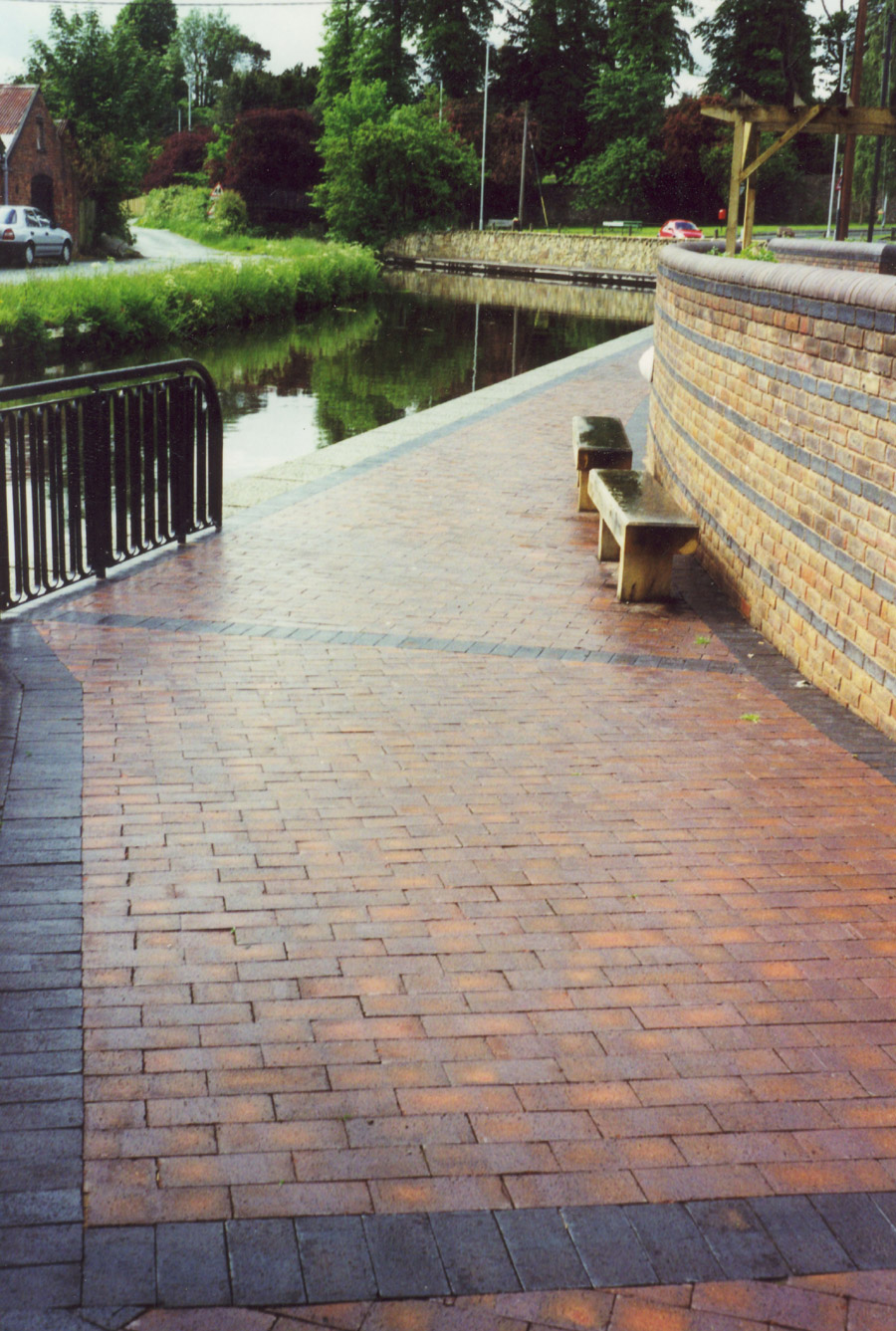 Canal towpath with Brown Brindle pavers