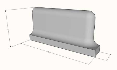 External Coved Skirting Stretcher