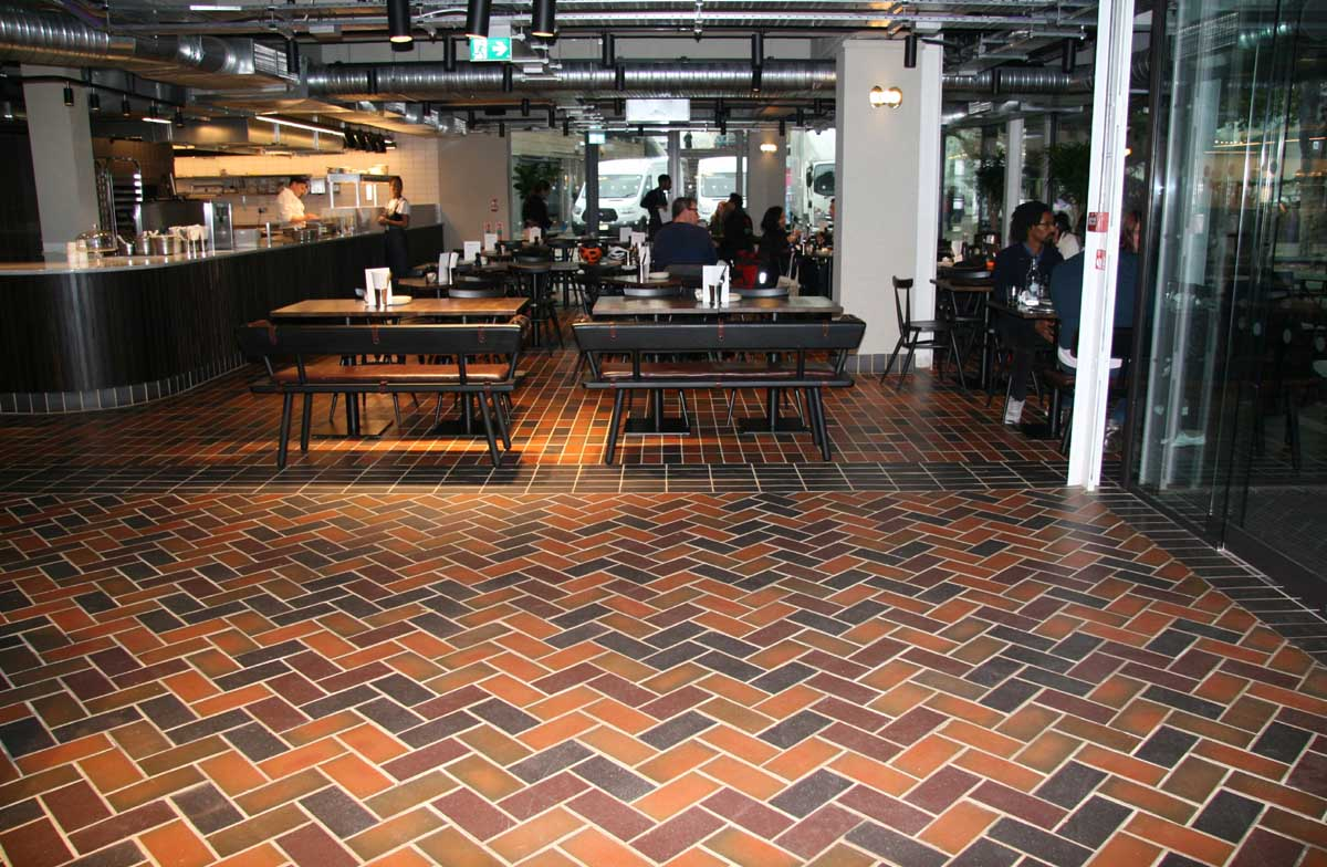 Ketley Quarry Tiles are usesd both inside and out at the British Film Institute on the Southbank
