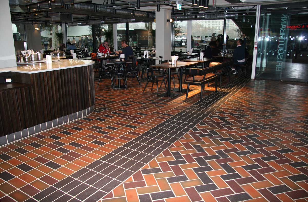 Ketley Quarry Tiles at Londons British Film Institute on the Southbank