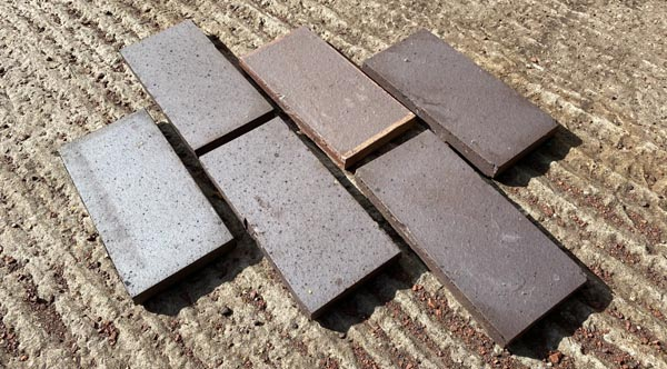 brown brindle commercial paver sized quarry tiles