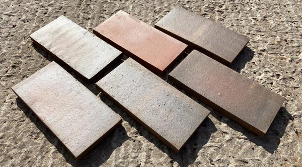 dark and light multi paver sized quarry tiles commercials