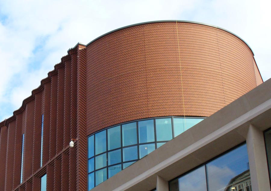 precast brick slip panels at Victoria Gate Arcade